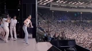 Bohemian Rhapsody - Radio Gaga (Live Aid) Rami Malek as Freddie Mercury