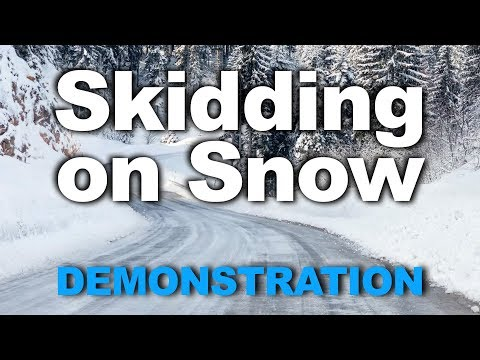 Skidding on Snow