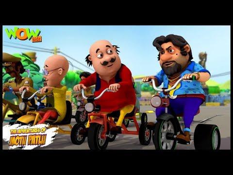 Motu Patlu New Episode | Hindi Cartoons For Kids | Tricycle Race | Wow Kidz