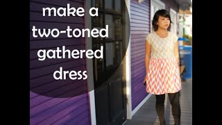 DIY 2-Toned Fit And Flare Dress