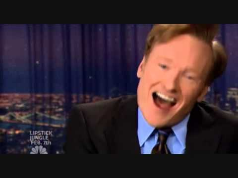 Conan O'brien playing with the camera switcher during the writers strike is ridiculously entertaining.