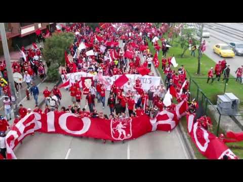 """DISTURBIO ROJO (in the house)"" Barra: Disturbio Rojo Bogotá • Club: América de Cáli"