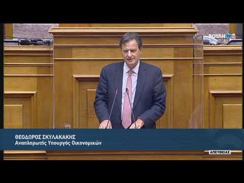 Θ.Σκυλακάκης (Αναπληρωτής Υπουργός Οικονομικών) (Προϋπολογισμός 2021) (13/12/2020)