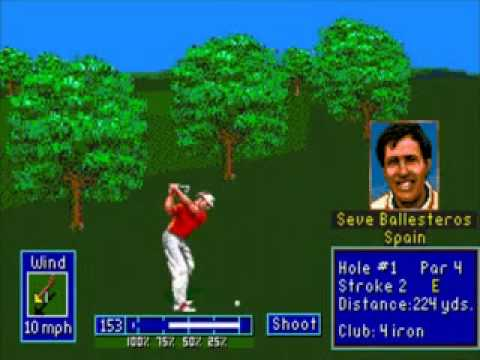 pga european tour golf megadrive