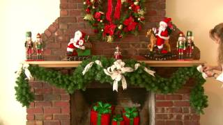 Decorating as Mantle with a Garland