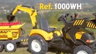 Minamas traktorius su kaušu, priekaba ir šalmu | Power Loader | Falk
