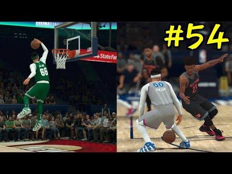 【NBA 2K18】#54 唐突のダンクコンテストで360!オールスターでレブロンに華麗なアリウープパスでお膳立て!!【マイキャリア】