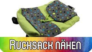 """Rucksack für Kinder nähen - Schnittmuster """"JOE"""" von Zierstoff"""
