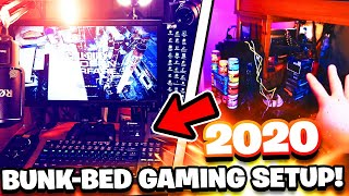 THE ULTIMATE *BUNK-BED* GAMING SETUP! (2020 YouTube & Twitch Room Tour)