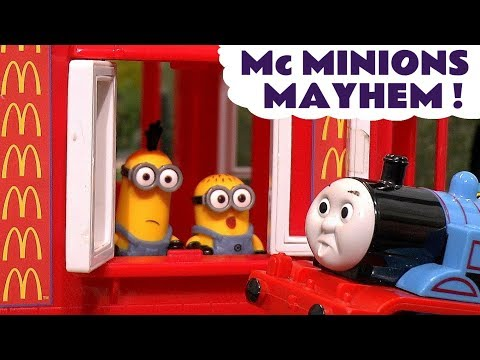 Thomas The Tank Engine Minions McDonalds Drive Thru Mayhem Burger Fire Rescue - Toy s for kids TT4U