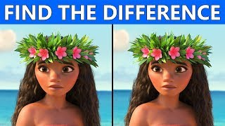 ONLY TRUE GENIUS CAN FIND THE DIFFERENCE | 100% FAIL | MOANA MOVIE PICTURE PUZZLE