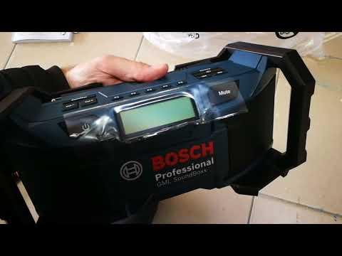 Unpacking / unboxing Radio Bosch GML SoundBoxx 0601429900  0601429970