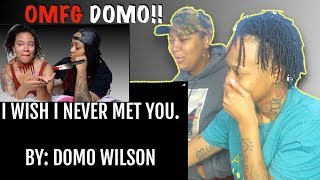 I WISH I NEVER MET YOU- BY DOMO WILSON(LYRIC VIDEO) LEELEE & GRAMZ REACTION VIDEO