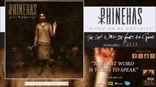 "Phinehas - ""Blood on My Knuckles"""