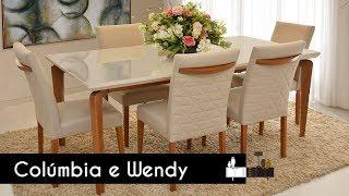 Mesa Colúmbia E Cadeiras Wendy | Morada Móveis