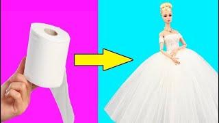 DIY Barbie Doll Hacks And Crafts 👗 Barbie Doll Dresses ❤️ DIY Doll Makeover Transformation