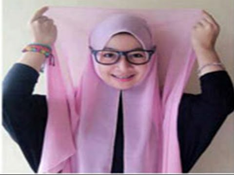 how to do simple hijab styles different face and glasses