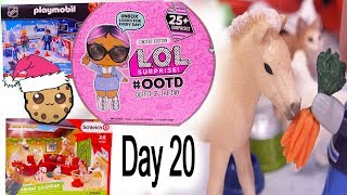Day 20 ! LOL Surprise - Playmobil - Schleich Animals Christmas Advent Calendar - Cookie Swirl C