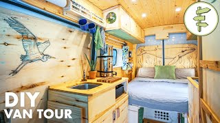 VAN TOUR | Tons of Smart Ideas in this Spectacular Conversion | Our VANLIFE Tiny Home