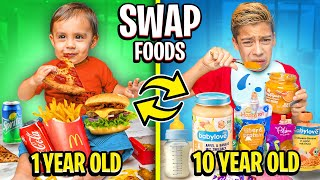10 year old SWAPS FOOD with Baby For a DAY!! 😱 | The Royalty Family