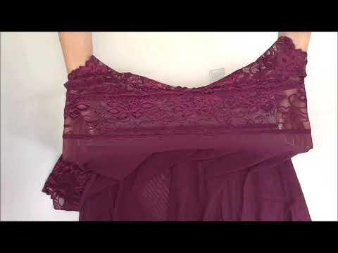 Vášnivá košilka Idillia babydoll purple - Obsessive