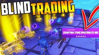 BLIND TRADING my RAREST ITEMS *MUST WATCH* - Fortnite Save The World