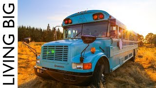 School Bus Converted Into Stunning Home and Mobile Business - Video Youtube