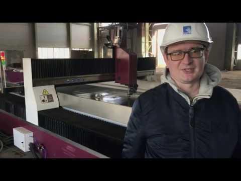 Отгрузка и запуск гидроабразивного станка YC WaterJet для ОАО «РУМО»