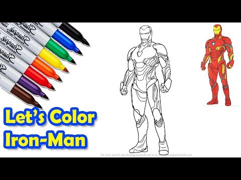 Iron Man Mark 50 The Avengers Infinity War Coloring Pages Sailany Coloring Kids Garrie Mccleland
