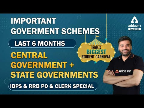 IBPS & RRB PO & Clerk Special | Important Government Schemes | Last 6 Months | Central + State Govt.