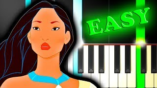 POCAHONTAS - COLORS OF THE WIND - Easy Piano Tutorial
