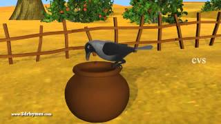 Ek Kauwa Pyaasa tha Poem - 3D Animation Hindi Nursery