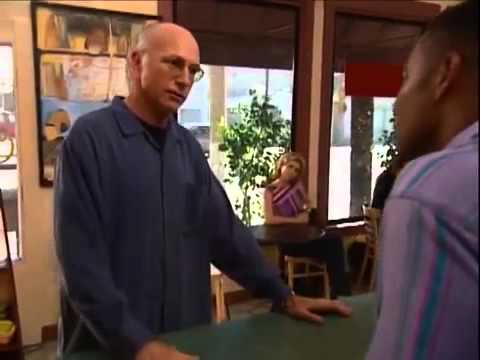 Larry David orders a coffee