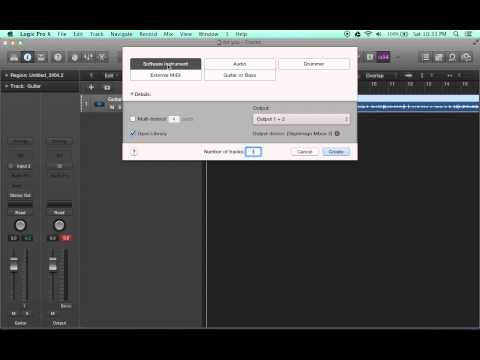 How to use software instruments in Logic Pro X