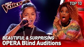 TOP 10 | Unexpected OPERA talents who SHOCKED the Coaches in The Voice