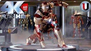 Iron Man Mark 42 Suit Up - Iron Man 3 - MOVIE CLIP (4K HD)