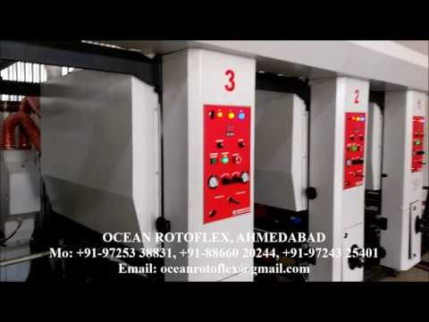 Automatic Electronic Line Shaft Rotogravure Printing Machine