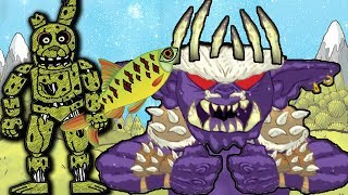 ГЕРОИ АНИМАТРОНИКИ В БУМАЖНОМ МИРЕ НОВЫЙ БОЙ СПРИНГТРАПОМ И ЗЛОДЕЕМ В ИГРЕ Draw a Stickman EPIC 2