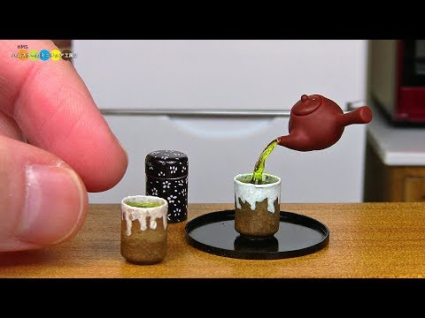 DIY Miniature Japanese Teacup ミニチュア湯呑み作り
