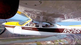 Cessna Cardinal flying solo in unusual times