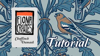 Damask Illustrated Pattern Tutorial