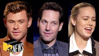 'Avengers: Endgame' Cast Play Name That Avenger | MTV News