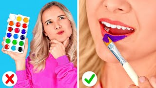 WEIRD WAYS TO SNEAK MAKE UP IN CLASS    Back to School Ideas For Beautiful Makeup by 123 GO! SCHOOL