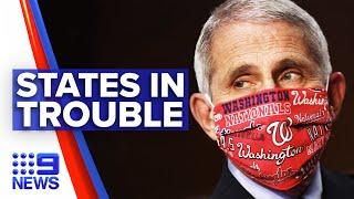 Coronavirus: US states shut again amid rising cases | 9 News Australia