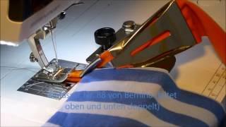 Ausschnitte einfassen mit der Nähmaschine, mit oder ohne Einfasser