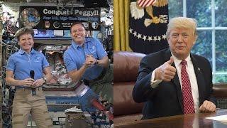 Трамп поздравил Пегги Уитсон с рекордом среди астронавтов НАСА (новости)
