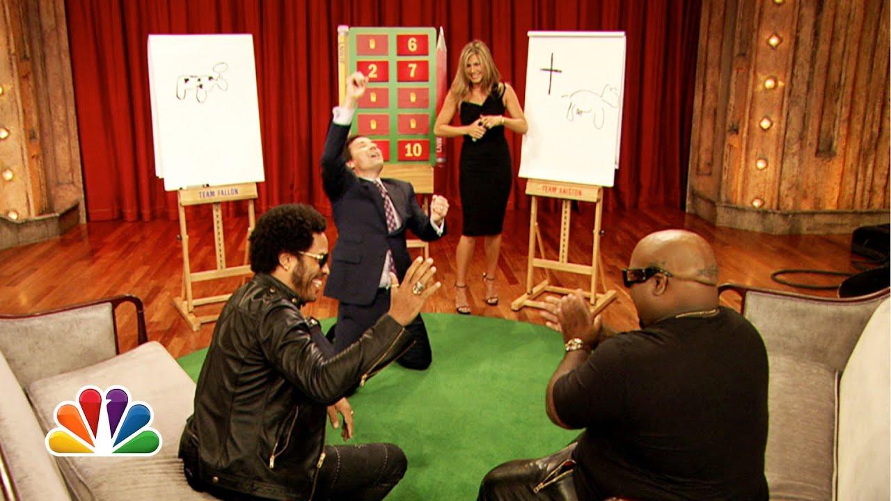 Pictionary with Jennifer Aniston, Lenny Kravitz and CeeLo Green, Part 2 thumbnail