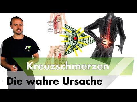 Schmerzen im Rücken gibt die rechte Brust