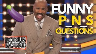 WOAH! FUNNY 'Package' Questions & Answers! Steve Harvey Family Feud USA