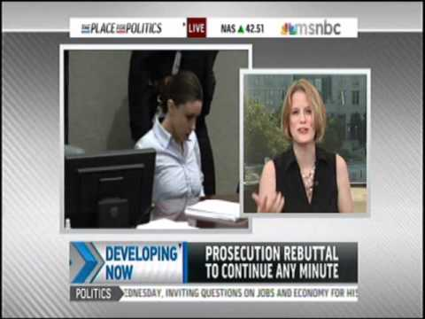 Meg Strickler on MSNBC July 4, 2011 discussing Casey Anthony with Lilia Luciano and Matt Semino